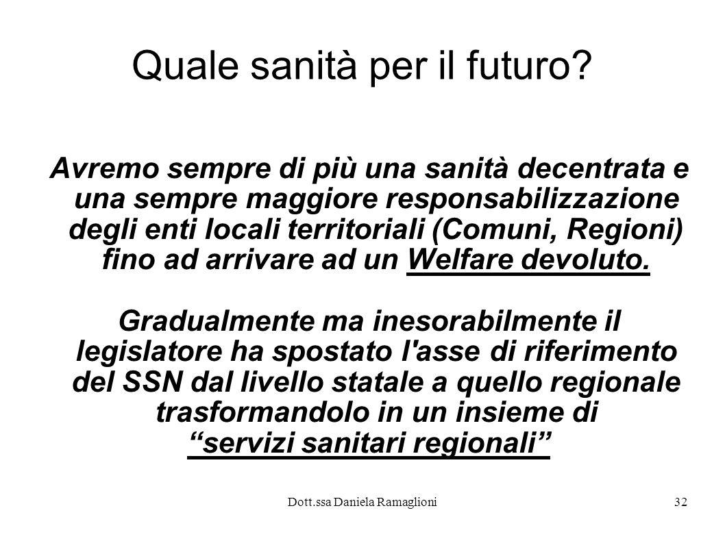 Quale sanità per il futuro