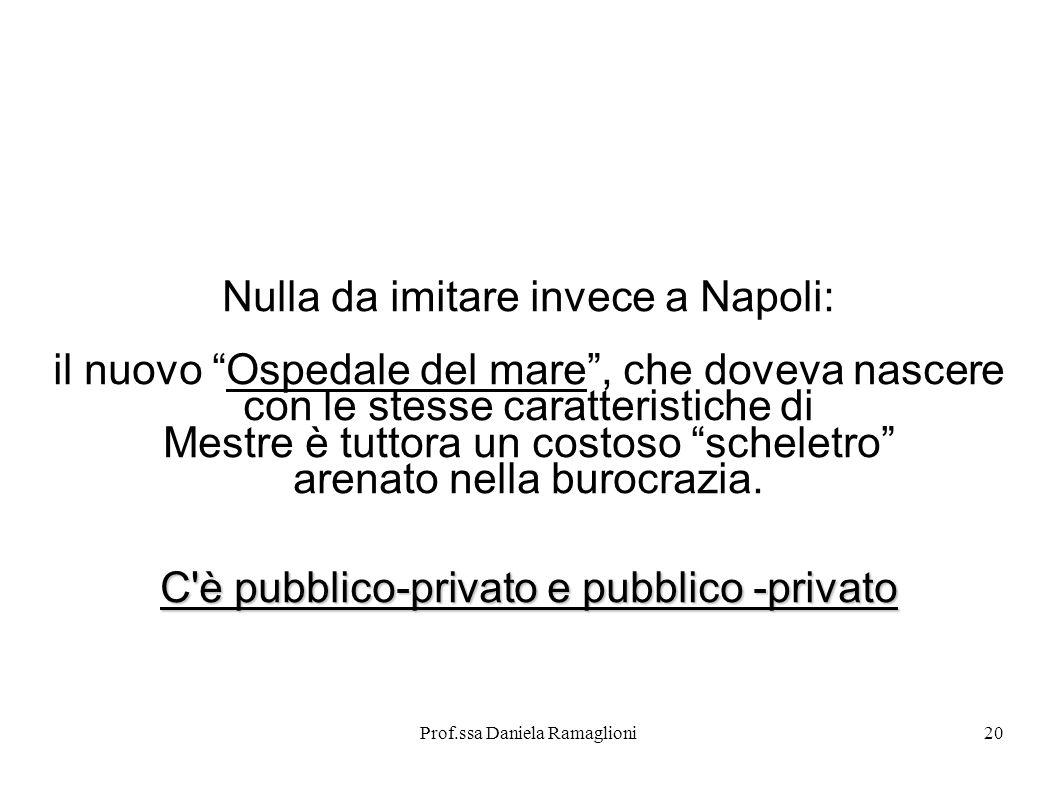 Nulla da imitare invece a Napoli: