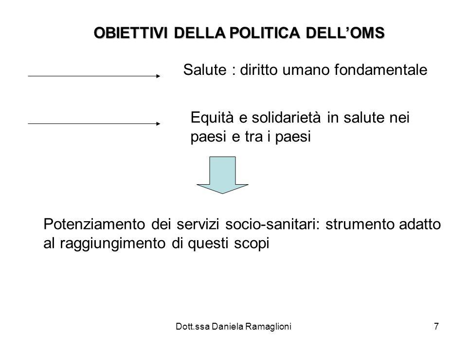 OBIETTIVI DELLA POLITICA DELL'OMS