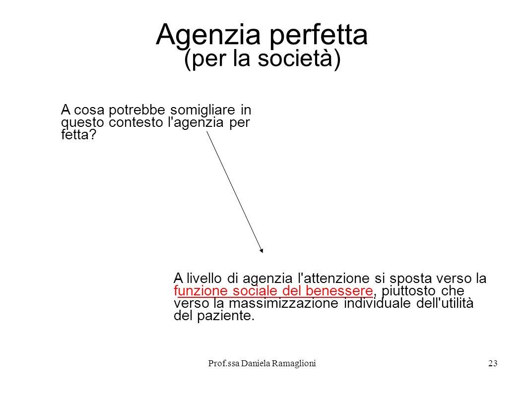 Agenzia perfetta (per la società)