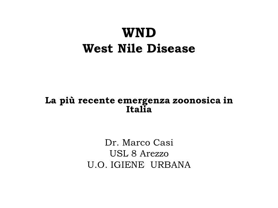 La più recente emergenza zoonosica in Italia