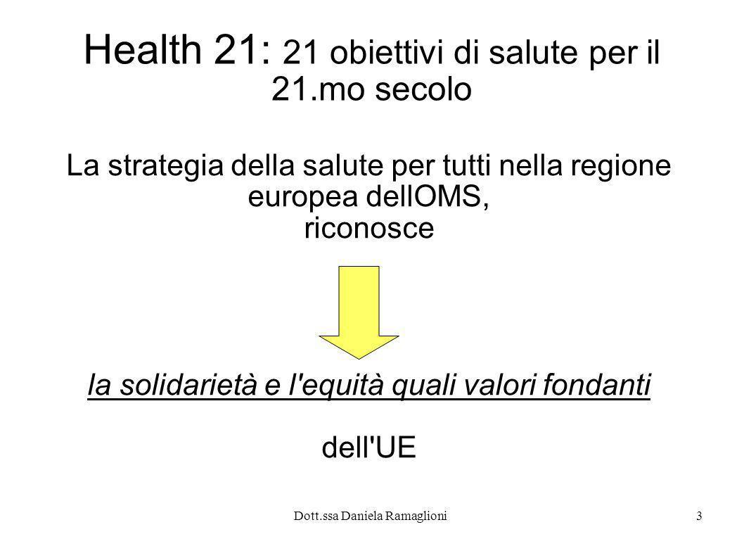 Health 21: 21 obiettivi di salute per il 21.mo secolo