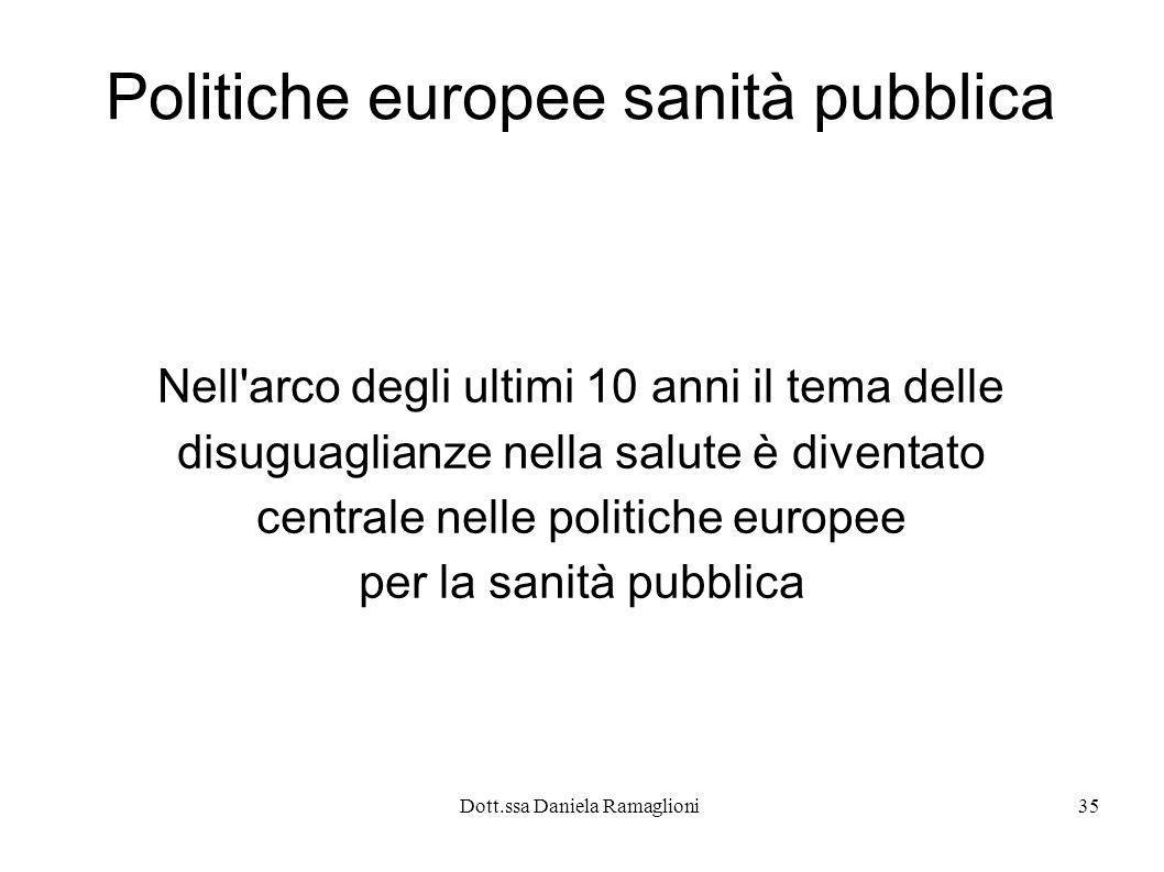 Politiche europee sanità pubblica