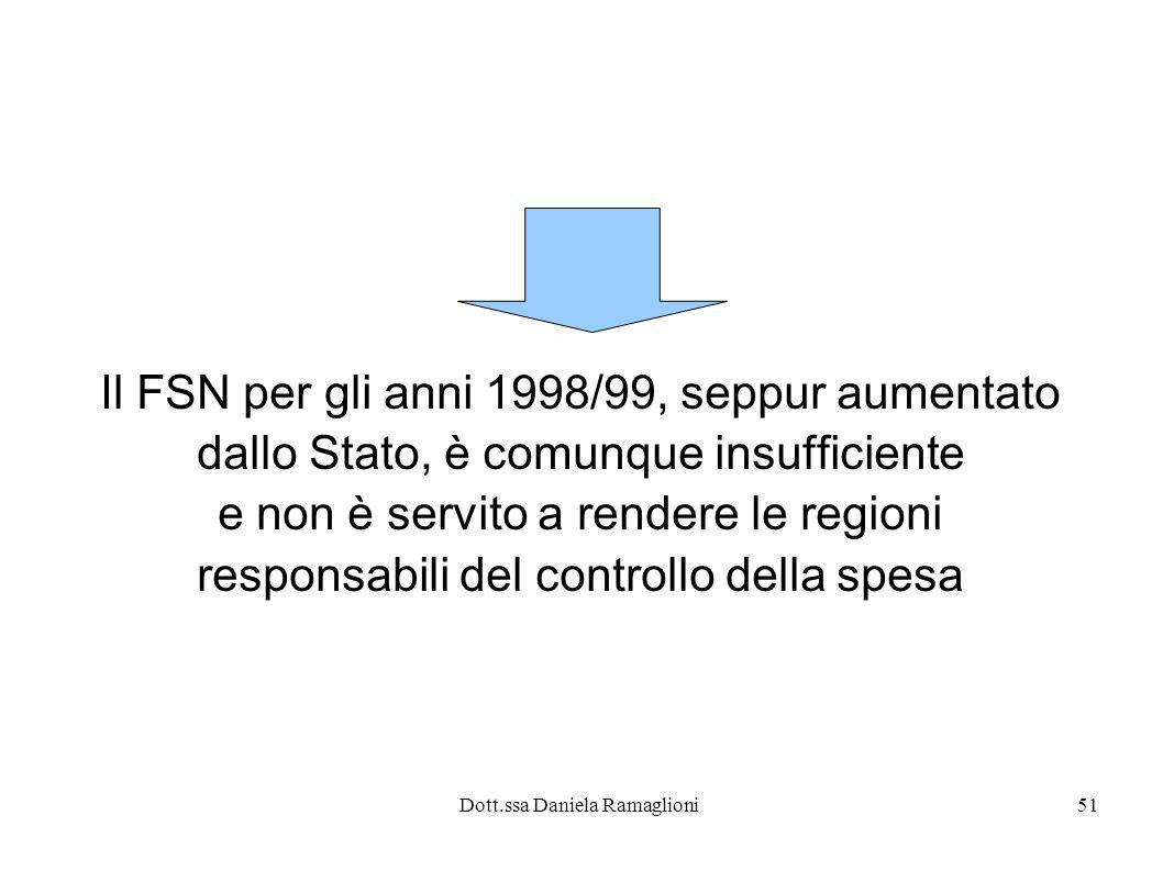 Il FSN per gli anni 1998/99, seppur aumentato
