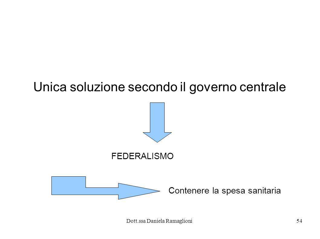 Unica soluzione secondo il governo centrale