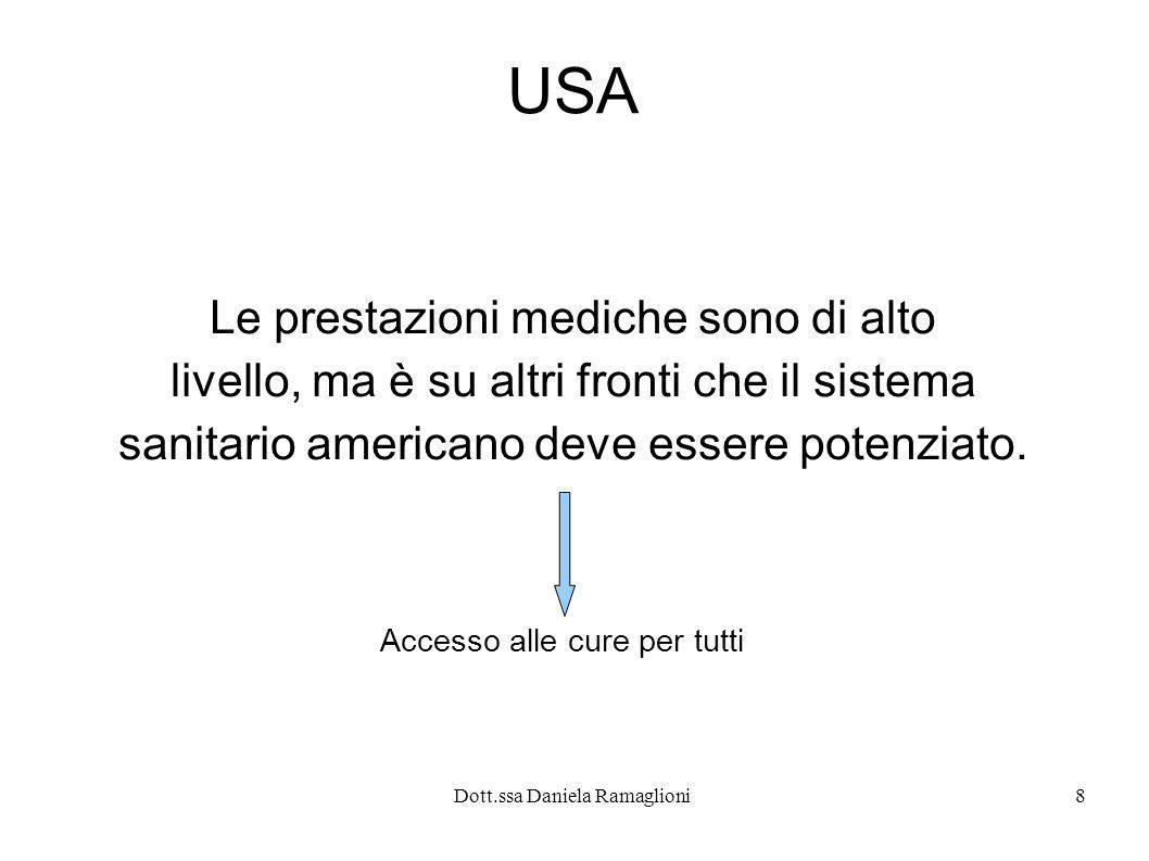 USA Le prestazioni mediche sono di alto