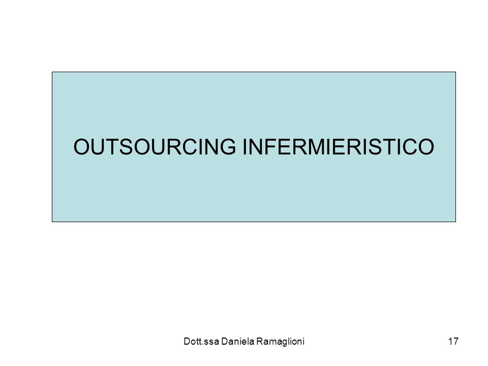 OUTSOURCING INFERMIERISTICO