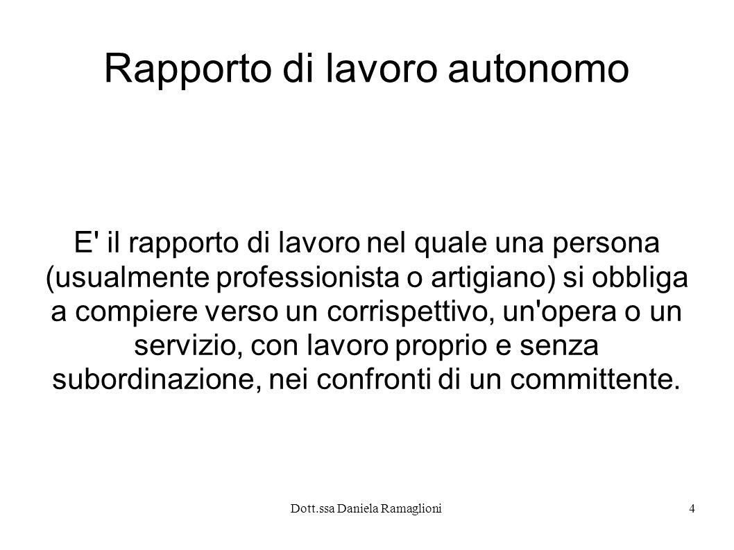 Rapporto di lavoro autonomo