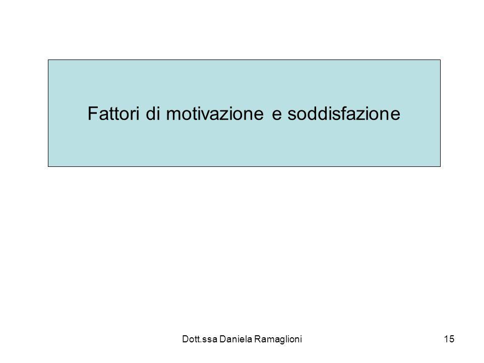 Fattori di motivazione e soddisfazione