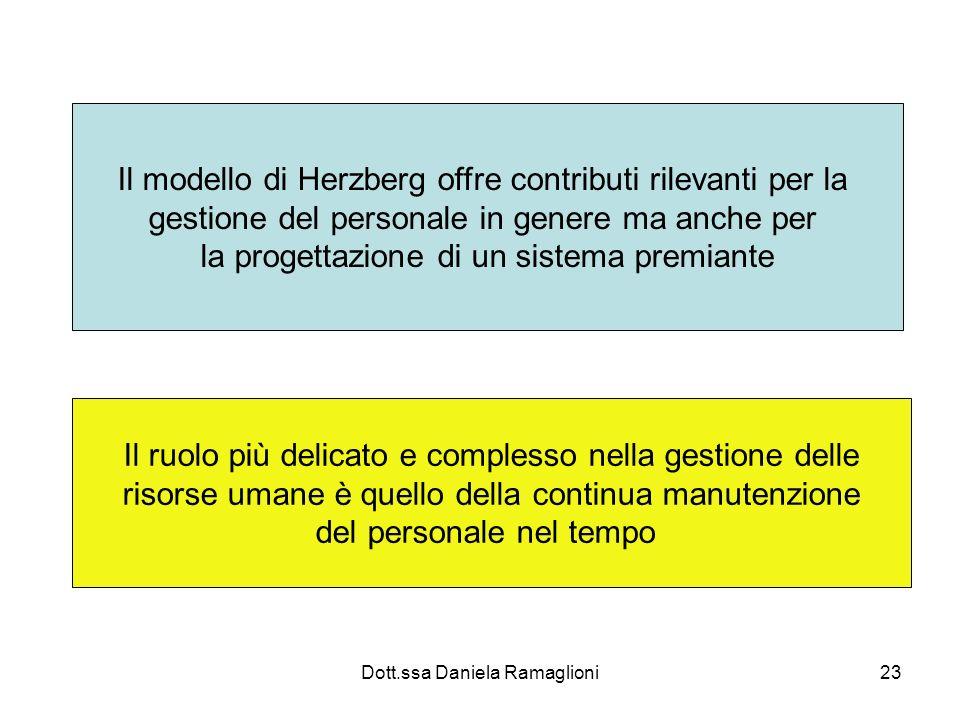 Il modello di Herzberg offre contributi rilevanti per la