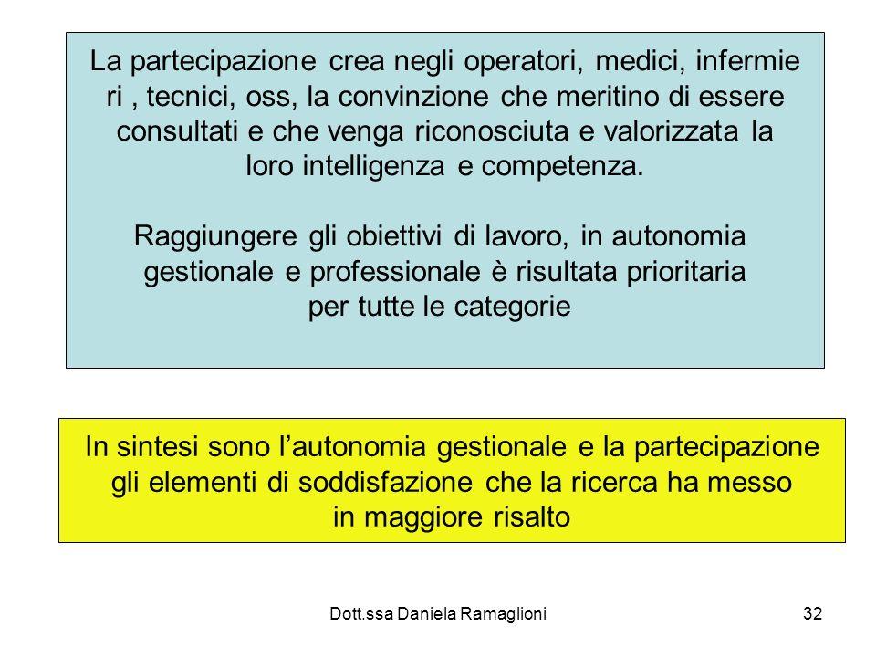 La partecipazione crea negli operatori, medici, infermie