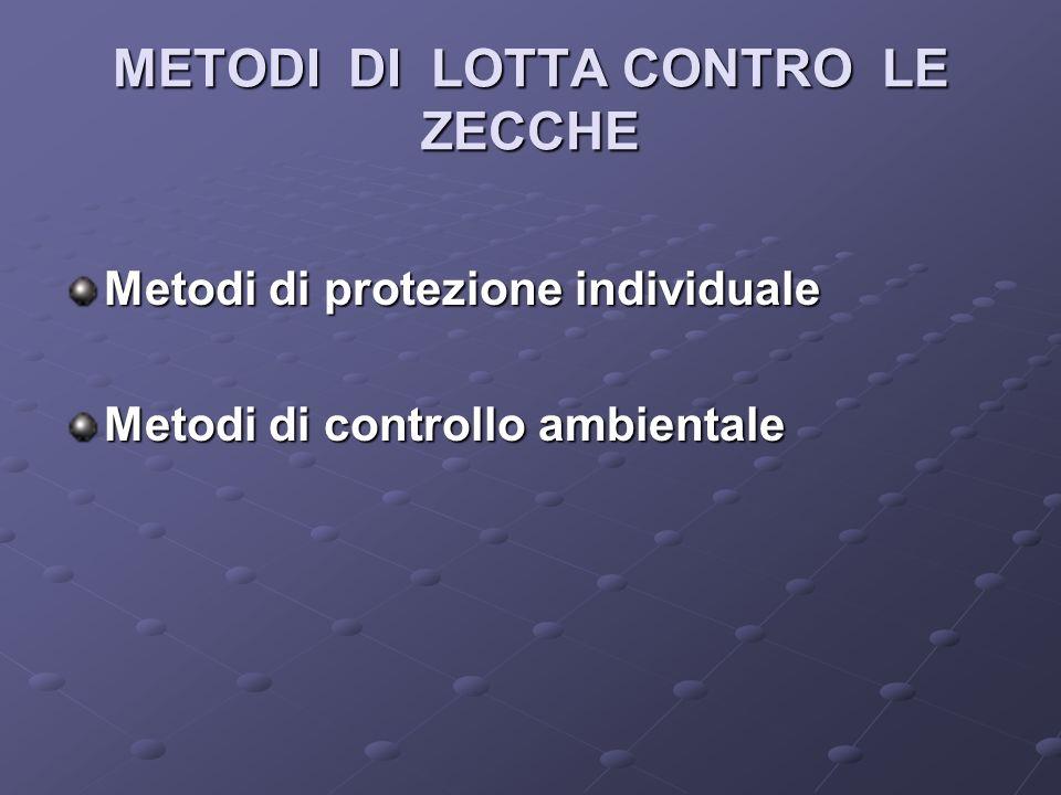 METODI DI LOTTA CONTRO LE ZECCHE