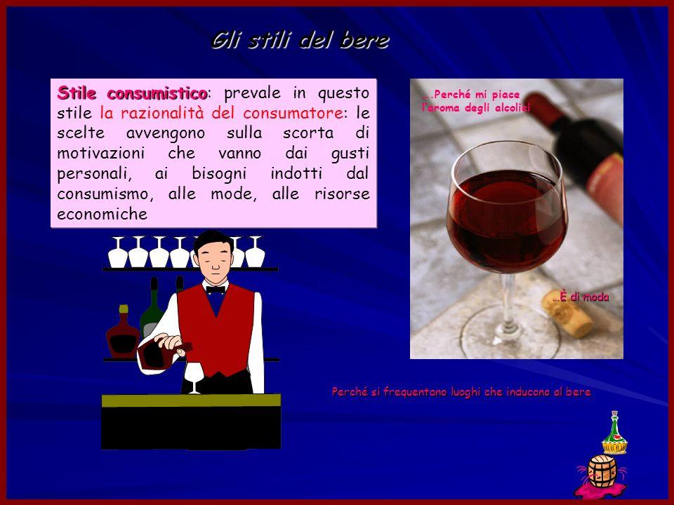 Gli stili del bere