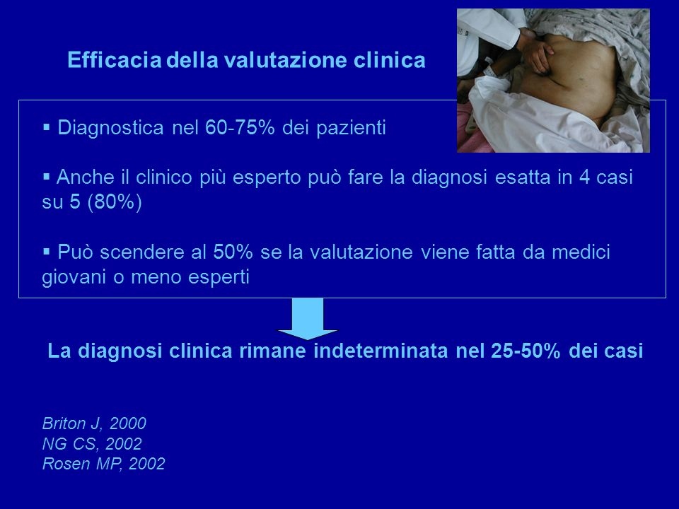 Efficacia della valutazione clinica