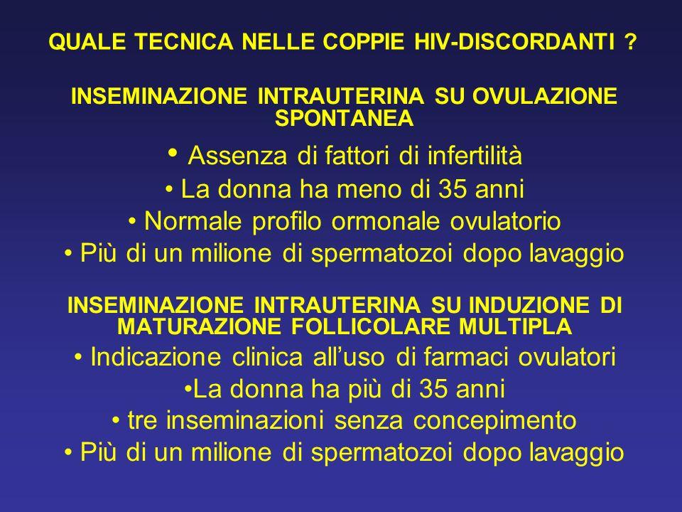 QUALE TECNICA NELLE COPPIE HIV-DISCORDANTI