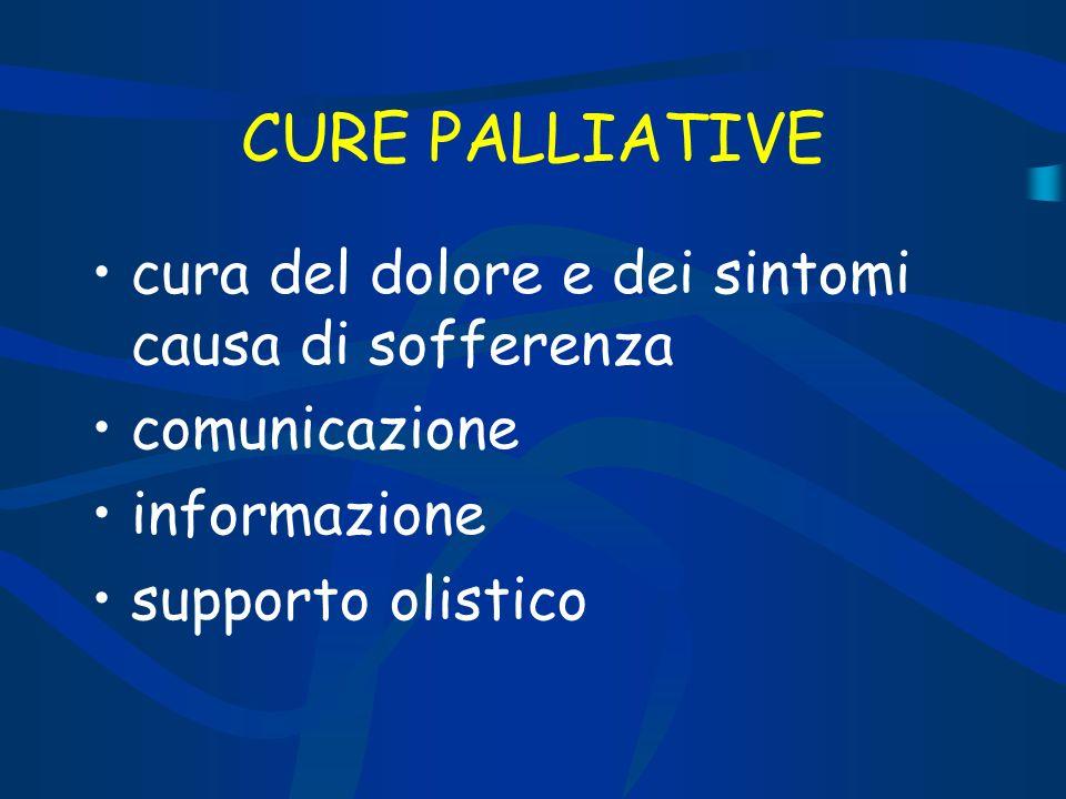 CURE PALLIATIVE cura del dolore e dei sintomi causa di sofferenza