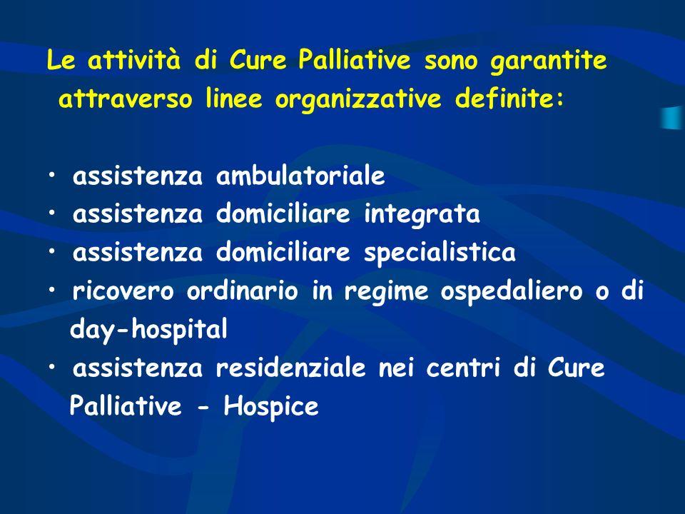 Le attività di Cure Palliative sono garantite