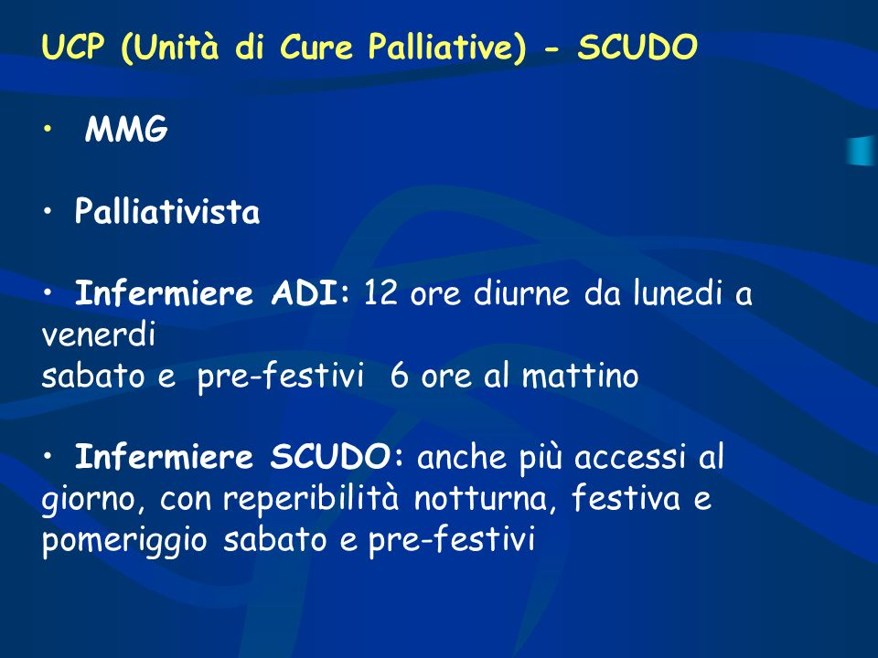 UCP (Unità di Cure Palliative) - SCUDO