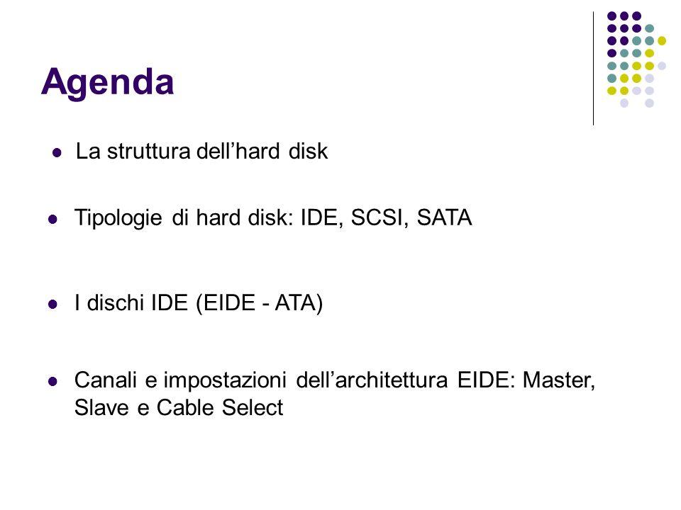 Agenda La struttura dell'hard disk