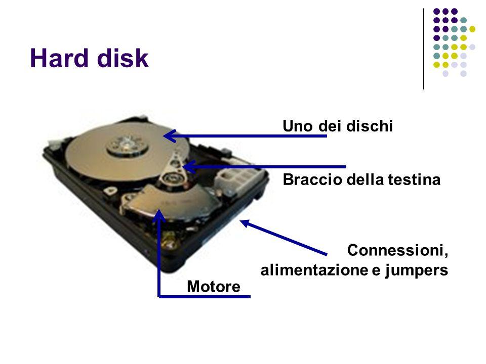 Hard disk Uno dei dischi Braccio della testina