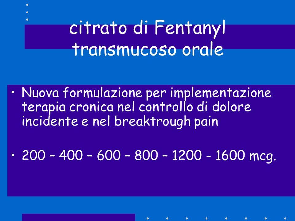 citrato di Fentanyl transmucoso orale