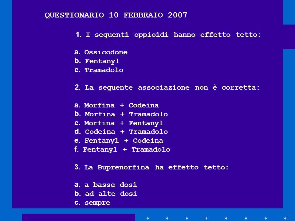 QUESTIONARIO 10 FEBBRAIO 2007