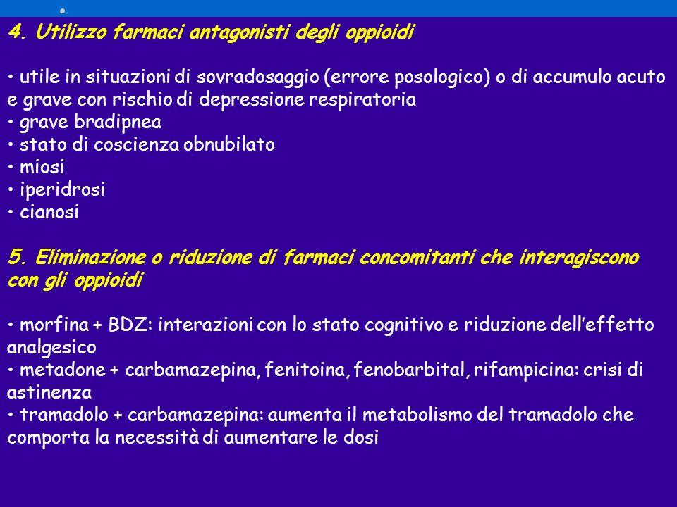 4. Utilizzo farmaci antagonisti degli oppioidi