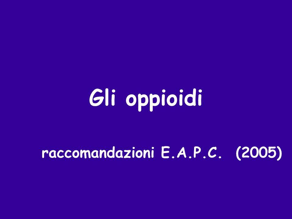 raccomandazioni E.A.P.C. (2005)