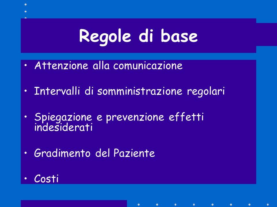 Regole di base Attenzione alla comunicazione