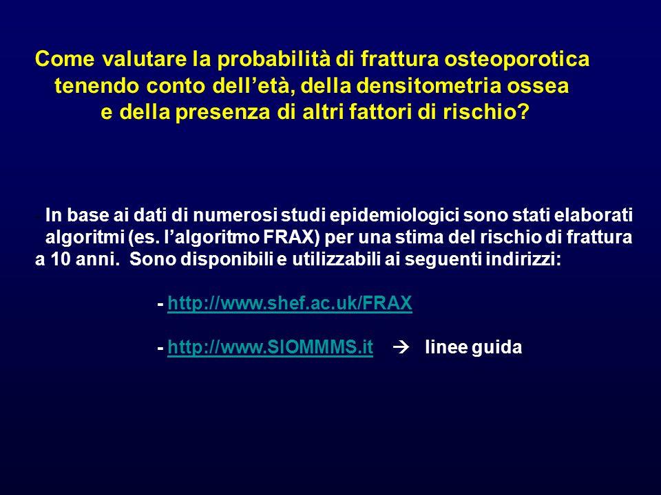 Come valutare la probabilità di frattura osteoporotica