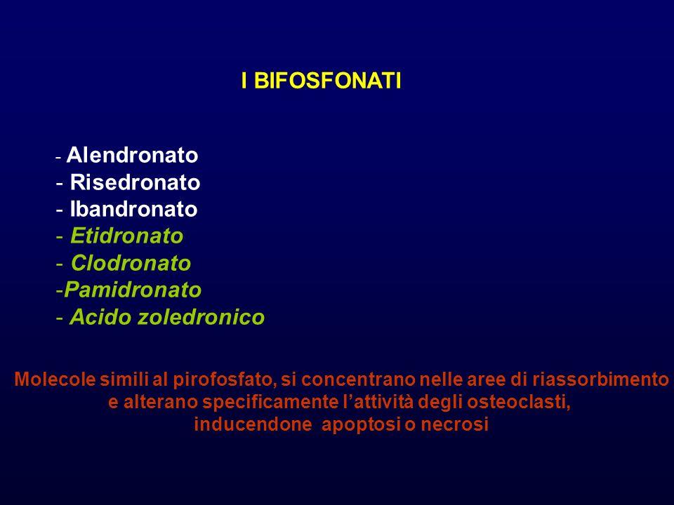 I BIFOSFONATI Risedronato Ibandronato Etidronato Clodronato