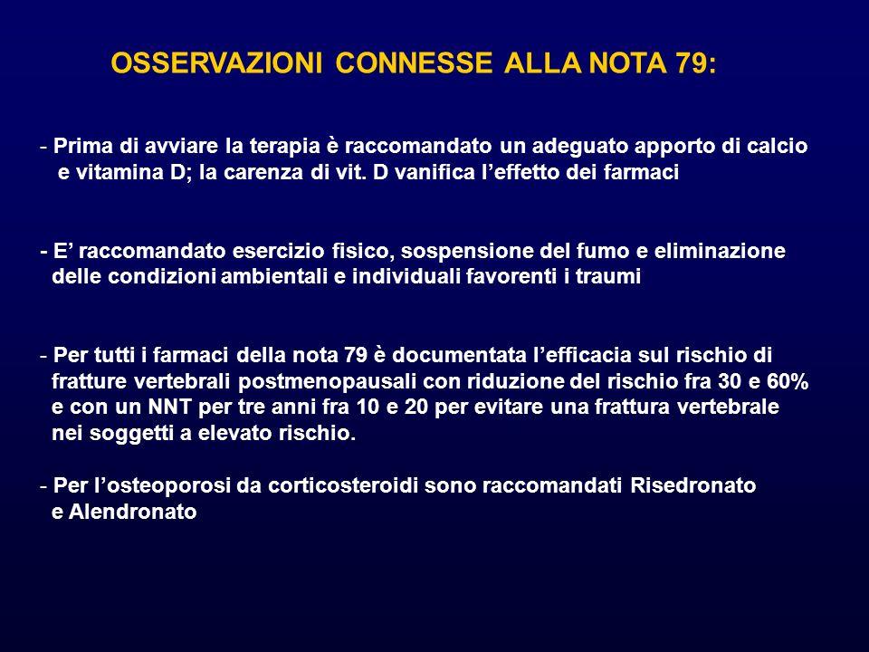OSSERVAZIONI CONNESSE ALLA NOTA 79: