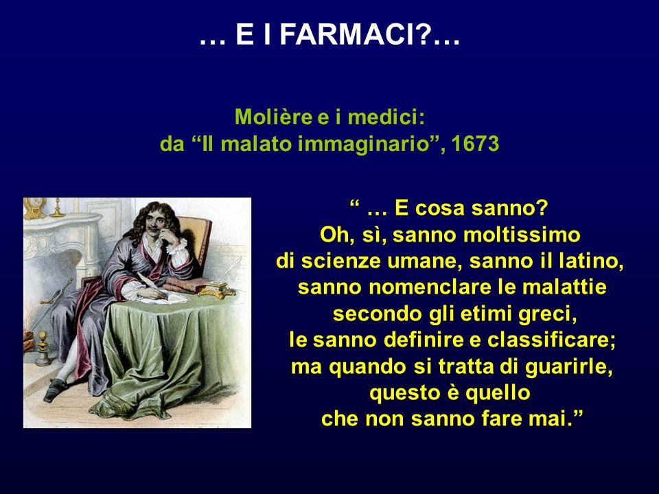 … E I FARMACI … Molière e i medici: da Il malato immaginario , 1673
