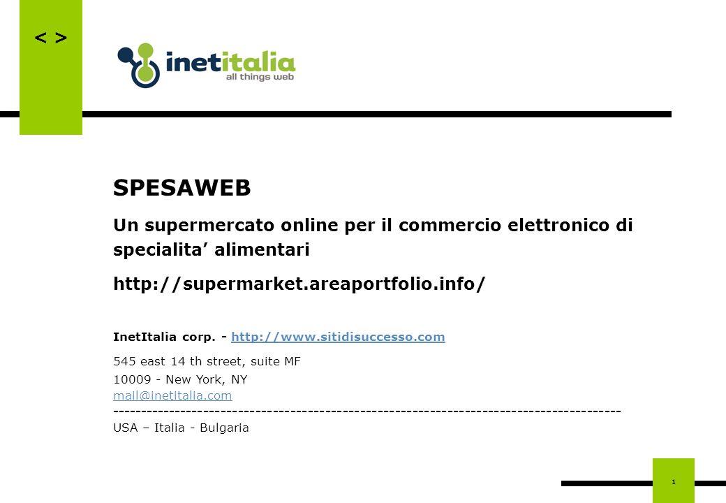 SPESAWEB Un supermercato online per il commercio elettronico di specialita' alimentari. http://supermarket.areaportfolio.info/