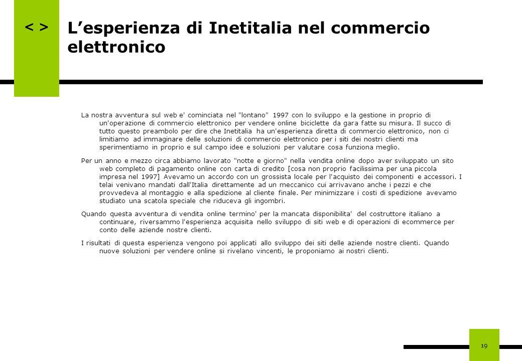 L'esperienza di Inetitalia nel commercio elettronico