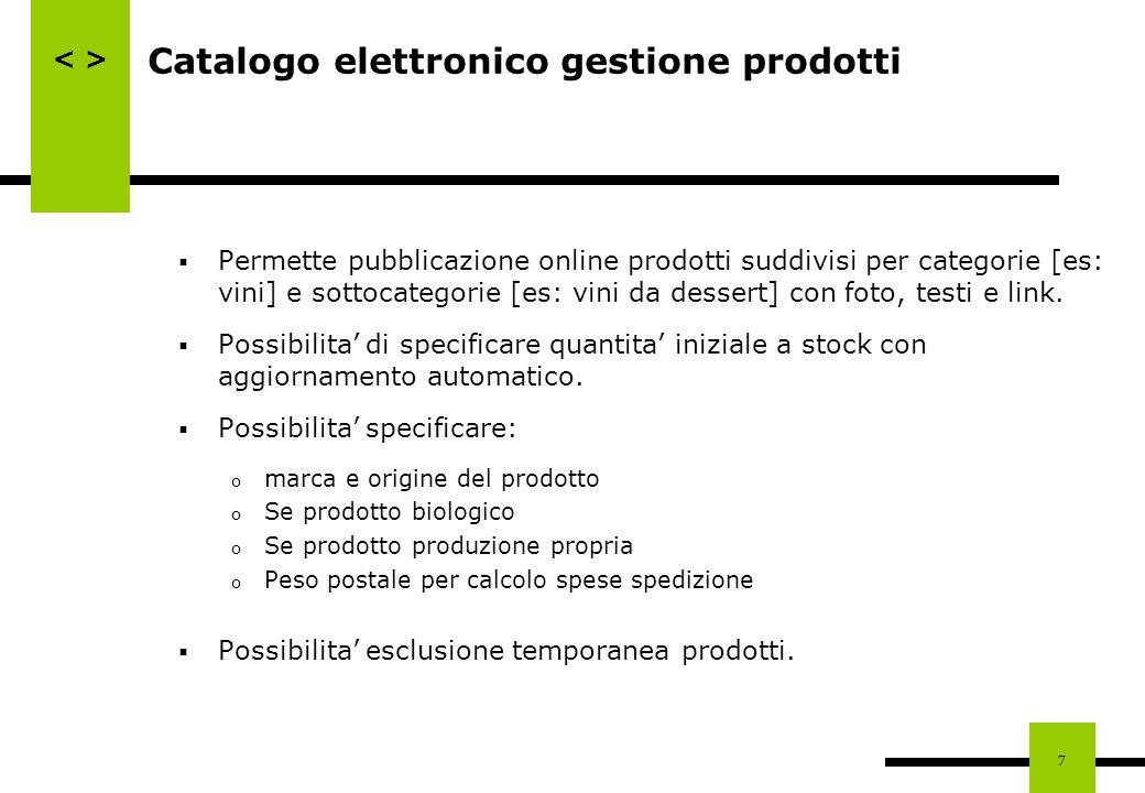 Catalogo elettronico gestione prodotti