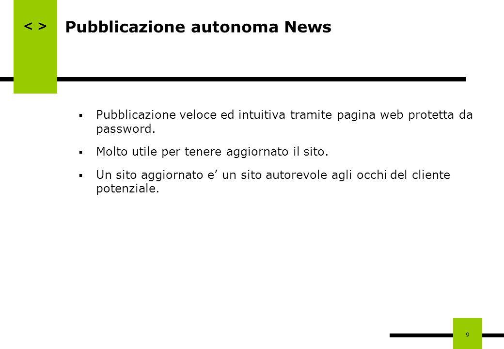Pubblicazione autonoma News