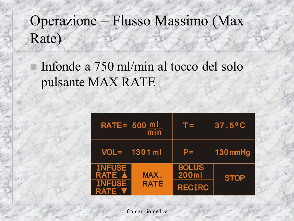 Operazione – Flusso Massimo (Max Rate)