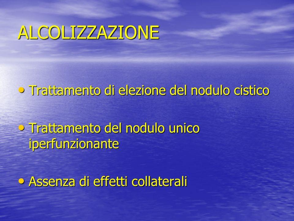 ALCOLIZZAZIONE Trattamento di elezione del nodulo cistico