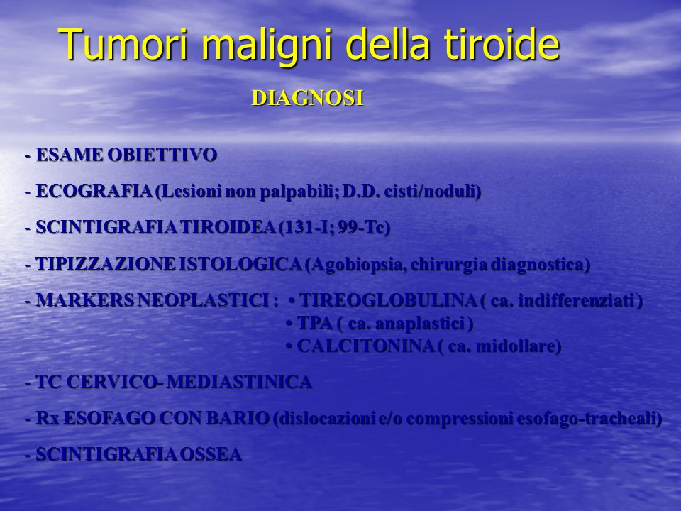 Tumori maligni della tiroide
