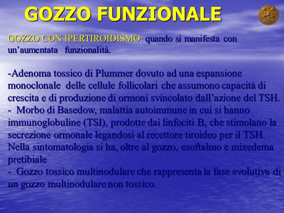 GOZZO FUNZIONALE GOZZO CON IPERTIROIDISMO: quando si manifesta con un'aumentata funzionalità.