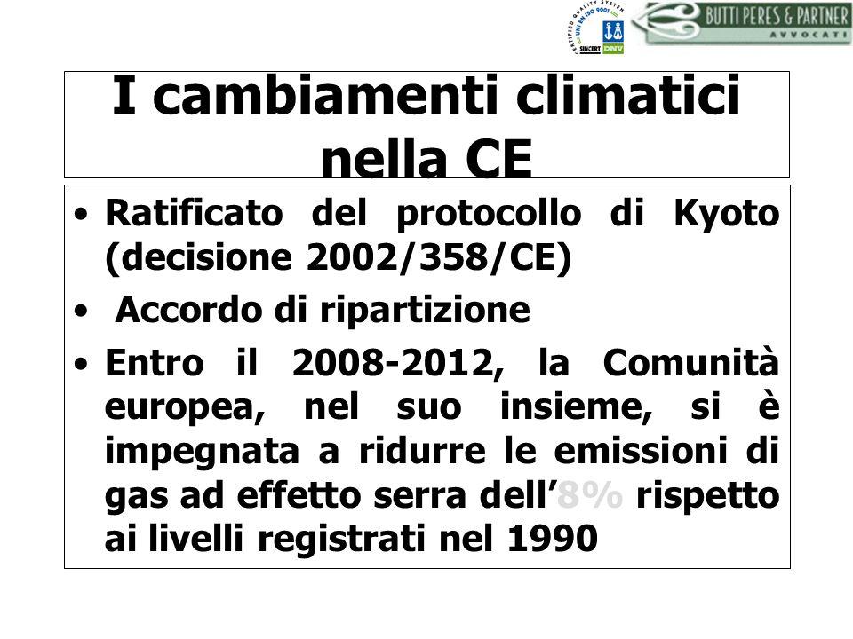 I cambiamenti climatici nella CE