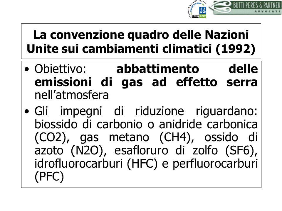 La convenzione quadro delle Nazioni Unite sui cambiamenti climatici (1992)
