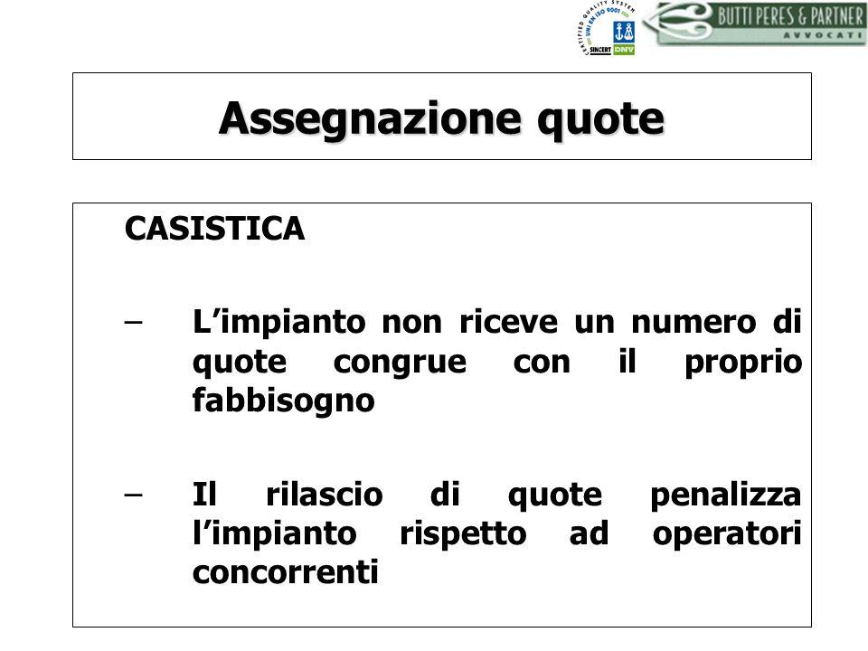 Assegnazione quote CASISTICA