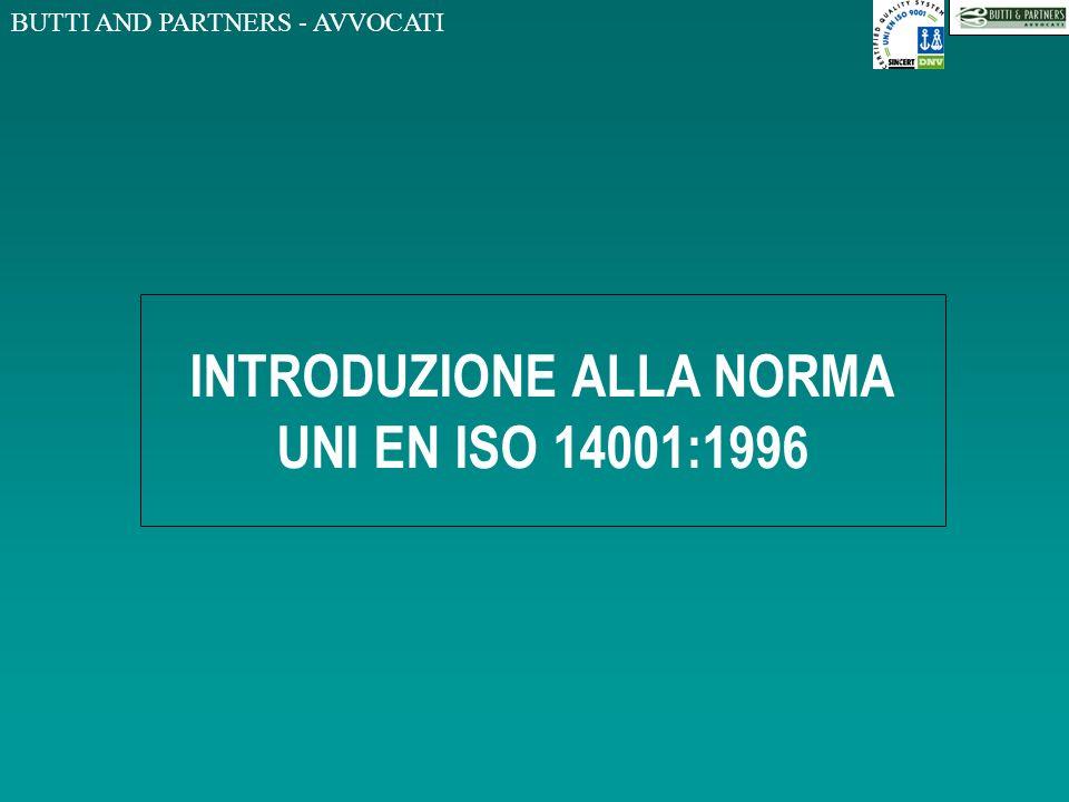 INTRODUZIONE ALLA NORMA UNI EN ISO 14001:1996