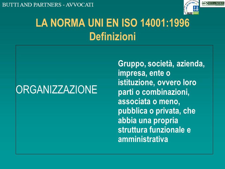 LA NORMA UNI EN ISO 14001:1996 Definizioni