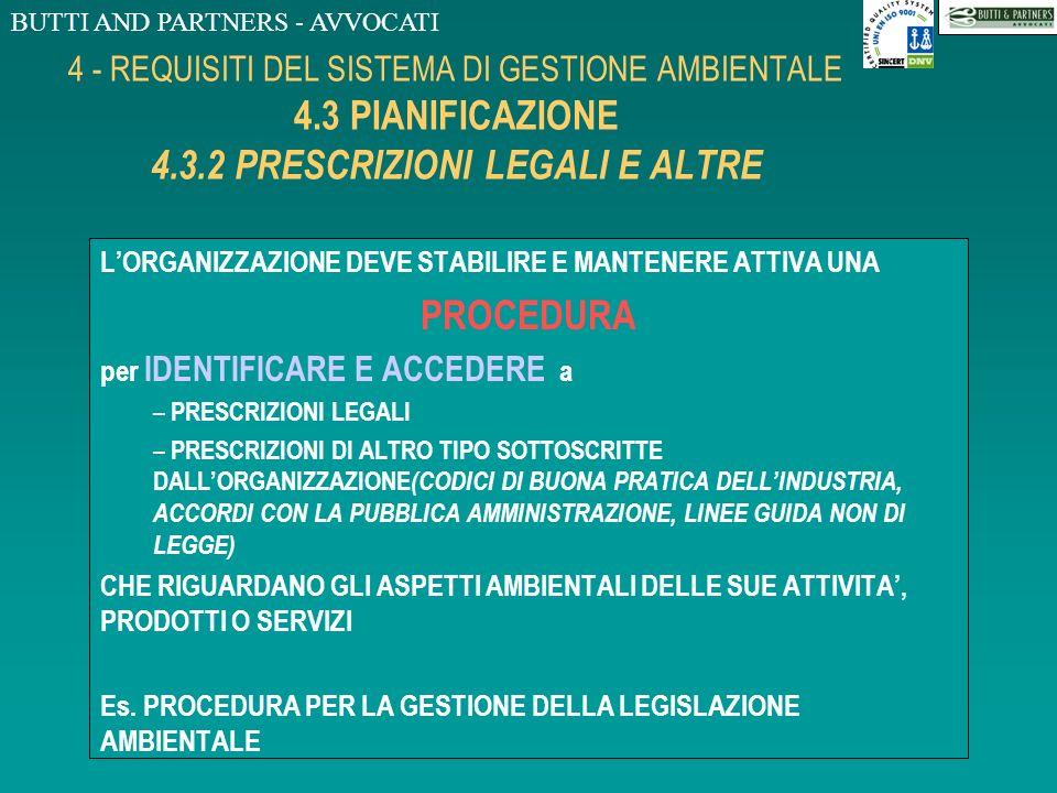 4 - REQUISITI DEL SISTEMA DI GESTIONE AMBIENTALE 4. 3 PIANIFICAZIONE 4