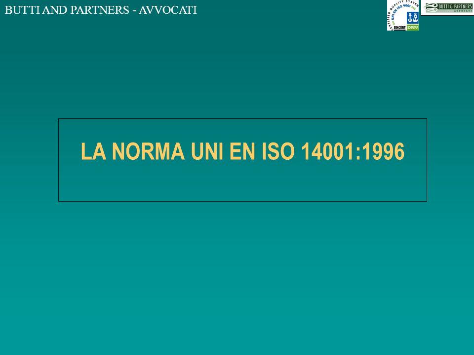 LA NORMA UNI EN ISO 14001:1996