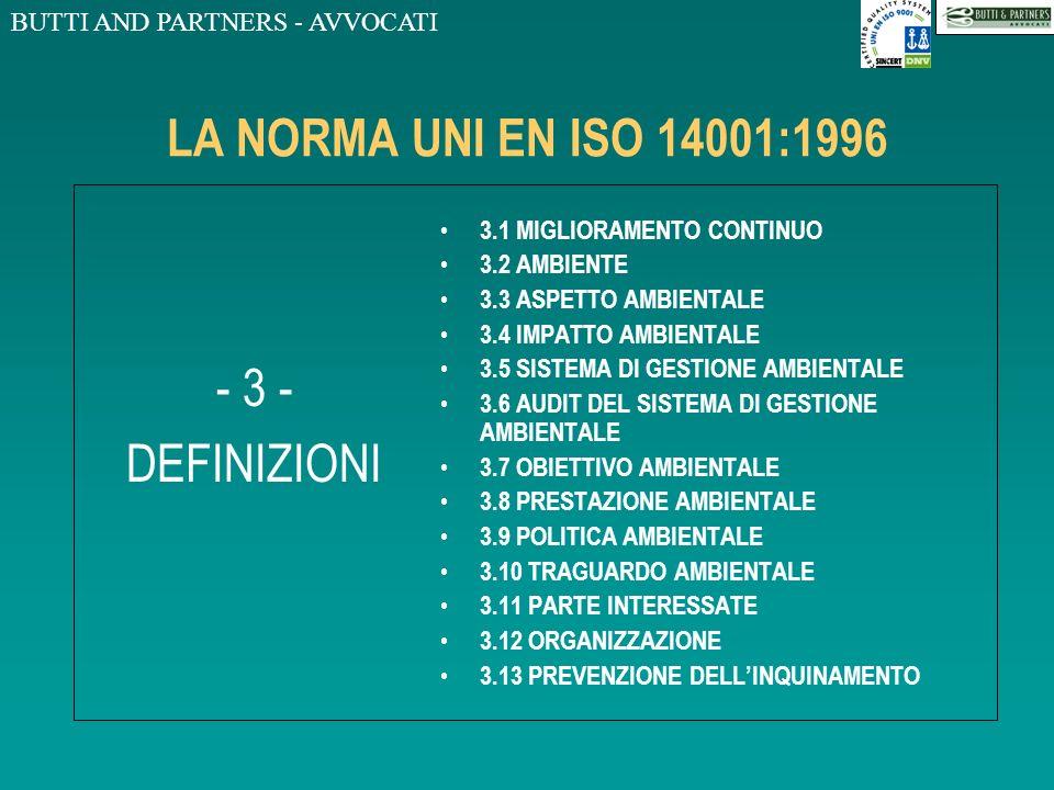 LA NORMA UNI EN ISO 14001:1996 - 3 - DEFINIZIONI
