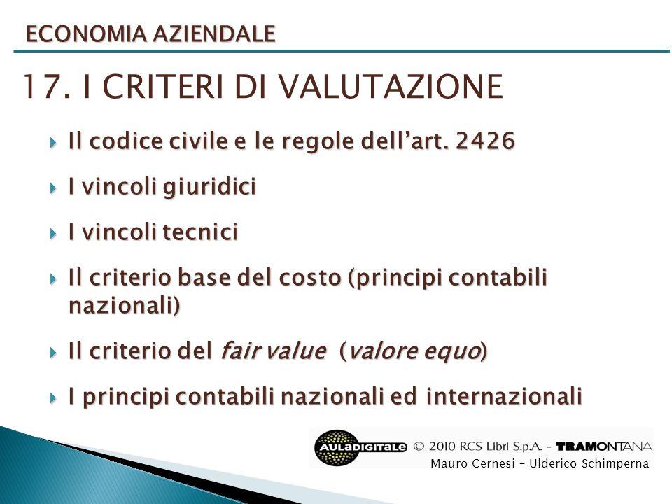 17. I CRITERI DI VALUTAZIONE